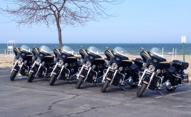 Motorcycles at Silver Beach