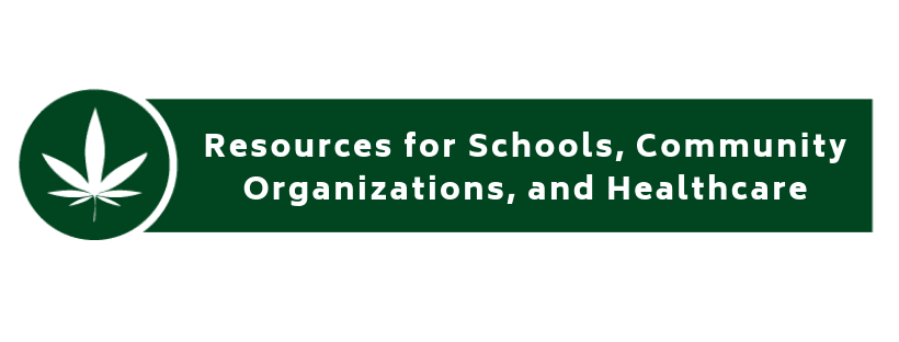 resources for schools, community organizations and healthcare